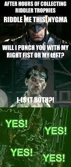 Riddler Meme - after collecting riddler trophies in arkham knight gaming