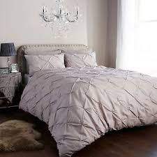 Luxury Bed Linen Sets Pintuck Duvet Cover Set With Pillow Cases Luxury Bed