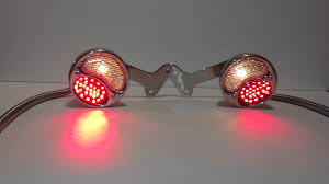 custom truck tail lights custom amber red led stepside truck stake pocket taillights