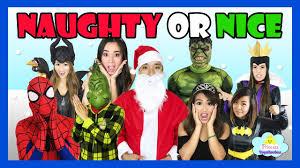 good or bad santa list ironman hulk disney olaf princess