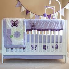 Lavender Butterfly Crib Bedding Lavender Butterfly Nursery In A Bag Bedding Set Walmart