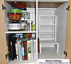 ikea kitchen cabinet shelves rosie s cottage rosie s kitchen cabinet hack re organization
