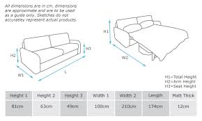 Double Sofa Bed Dimensions Portofino Milano Smart Living TheSofa - Double sofa bed dimensions