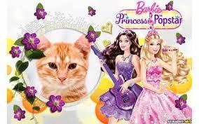 scrapee net photo frame barbie princes popstar