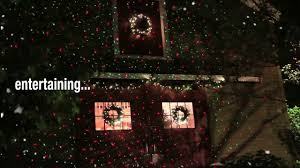 Holiday Light Projector Christmas Lights by Brookstone Holiday Landscape Laser Light Projector Youtube