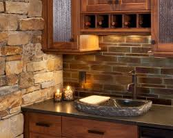 Rock Backsplash Kitchen by 18 Best Stone Backsplash Images On Pinterest Stone Backsplash