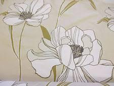 White Taffeta Curtains Taffeta Floral Craft Fabrics Ebay