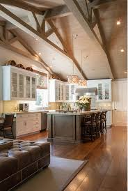 cathedral ceiling kitchen lighting ideas transitional kitchen design beamed ceiling fleming distinctive
