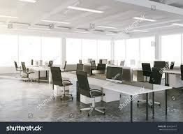 open space loft office furniture big stock photo 354236477