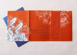 Navy Blue Wedding Invitations Gorgeous Navy Blue And Orange Wedding Invitation Be My Guest