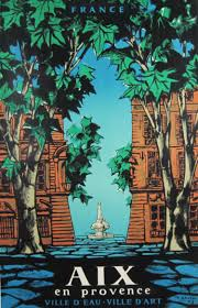 aix en provence aix en provence french original vintage travel poster from 1958 by