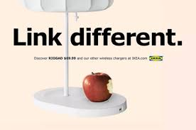ikea launches new apple inspired ad campaign for qi charging