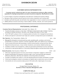 Customer Service Example Resume by Marvellous Sample Resume For Customer Service Representative In