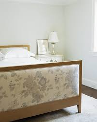 upholstered headboard and footboard cottage bedroom mabley