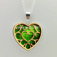 green heart pendant necklace images Women heart shaped necklace the legend of zelda necklace blue red jpg
