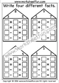 numbers fact family free printable worksheets u2013 worksheetfun