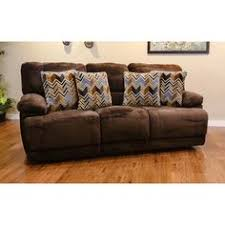 Microfiber Recliner Sofa by Geoffrey Chocolate Fabric Power Double Reclining Sofa Fabric