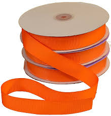 7 8 orange grosgrain fabric ribbon 1 50yd roll