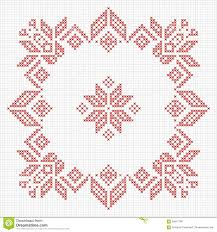 scandinavian style cross stitch pattern stock vector image 62847190