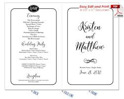 print wedding programs border script wedding program fan cool colors