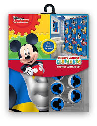 Red Mickey Mouse Curtains Amazon Com 13pc Disney Mickey Mouse Clubhouse Shower Curtain And