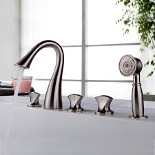 curva sleek design 5 hole roman tub bathroom faucet