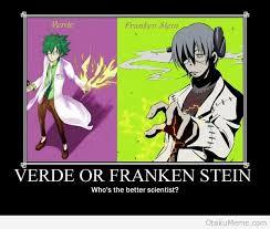 Soul Eater Memes - otaku meme anime and cosplay memes verde vs franken stein