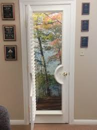window treatment ideas for doors 3 blind mice french door window