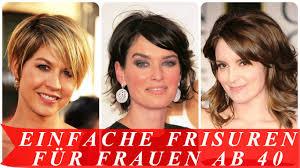 Einfache Kurzhaarfrisuren Frauen by Einfache Frisuren Für Frauen Ab 40