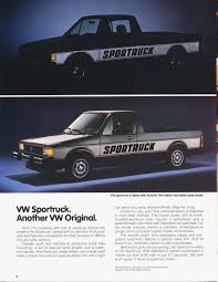 volkswagen rabbit pickup thesamba com vw archives 1981 vw rabbit pickup brochure