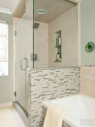 Small Bathroom Showers Ideas Colors Best 25 Half Wall Shower Ideas On Pinterest Bathroom Showers