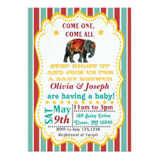 circus baby shower circus baby shower invitations announcements zazzle