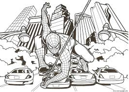 coloring spiderman mask colouring print pages pictures 3