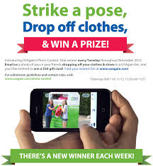 how to win gift cards usagain s photo contest strike a pose recycle clothes win gift