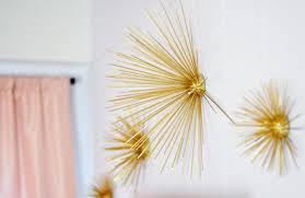 Diy Gold Sea Urchin Starburst Wall Decor Tutorial