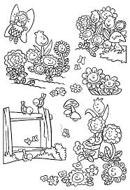planting seed in flower garden coloring pages planting seed in