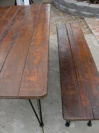 dream2devise antique picnic table u003d new dining room table