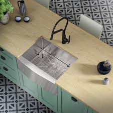 metal kitchen sink and cabinet combo allora usa kh 2721f r15 combo 27 x 21 x 10 farmhouse