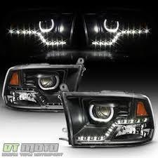 2009 dodge ram 1500 headlight bulbs for smoked 09 14 dodge ram halo led projector headlights led