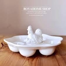 ceramic egg holder tray creative white ceramic egg plate porcelain egg tray container