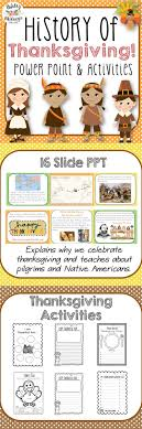 history of thanksgiving power point activities pack history