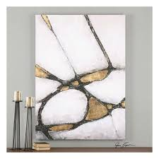uttermost abstract art in gold u0026 black 34352 wall decor new