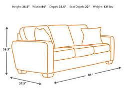 sofa depth alenya sofa ashley furniture homestore