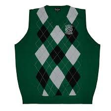 sweater vest green argyle sweater vest gaelic store