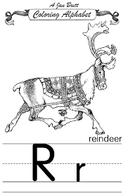 the mitten coloring page coloring alphabet traditional reindeer