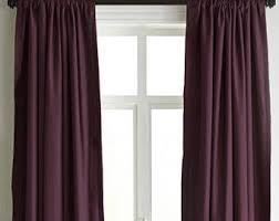 Plum Velvet Curtains Luxury Curtains Etsy