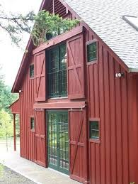 classic barn house in u0027barn red u0027 color the traditional sliding