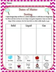 Solid Liquid Gas Periodic Table A Matter Sorting Activity Where Your Students Will Be Able To
