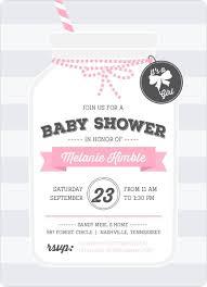 Mason Jar Baby Shower Ideas Cute Pink Mason Jar Baby Shower Invitation Baby Shower
