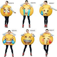emoji costume 2018 unisex emoji costumes series jumpsuit